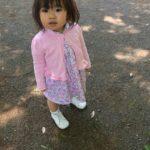 大久保羽華(わか)ちゃん、1歳7か月、プレゼントされたモネリーナのお写真とコメントをいただきました